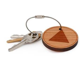 Isosceles Triangle Keychain, Wood Keychain, Custom Keychain, Gift For Him or Her, Wedding Gifts, Groomsman Gifts, and Personalized
