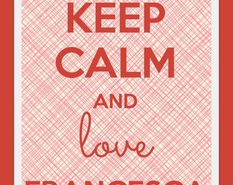 "Custom poster ""KEEP CALM and LOVE ..."""