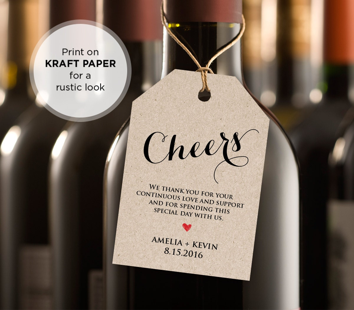 cheers wine tag wedding favor tag wedding table wine diy printable tag instant download