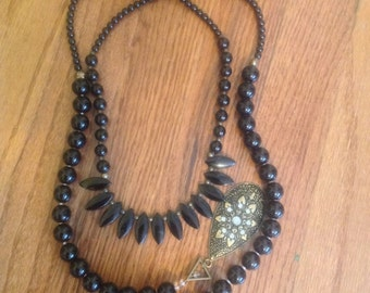 black necklace to be used around the neck