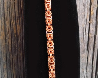 Copper Chainmaille Bracelet