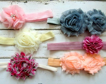 Baby Headbands Set - Newborn Headband Set- Baby Girl Headbands Set - Baby Bows - Infant Headbands Set - Baby Headband - Baby Shower Gift