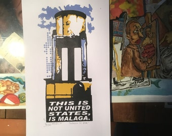 """This is not the united states, is Malaga series. """"Water container"""""""