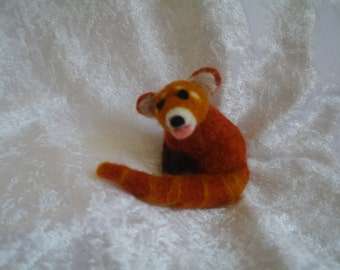Needle felted Red Panda