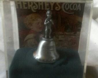 Hershey's Bittersweets Boy Pewter Bell Figurine