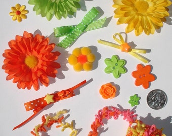 Inspiration Kit Embellishments Silk Flowers Grosgrain Crazy Quilts Papercrafts Hair Bows Hats Scrapbooking Needlecrafts Home Decor