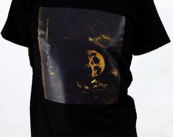 Art Printed Black Short Sleeve TShirt