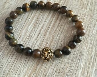Tiger's Eye Lion Healing Bracelet