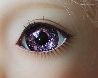 Glitter Purple Doll Eyes for BJD Dollfie 12mm 14mm 16mm 18mm 20mm 22mm