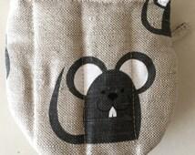 "Diner oven gloves, baking glove, potholders, cooking-mitts ""Black cat"" (5"" x 5"") linen/cotton,  gift"