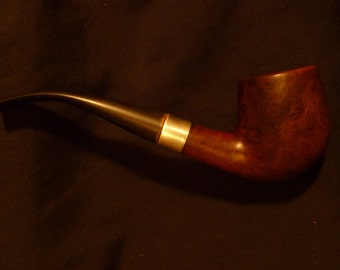 Unmarked Estate Pipe with Marked Silver Band