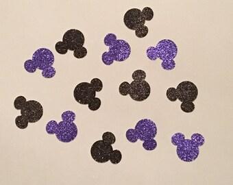 200 Minnie Mouse Confetti Glitter Confetti Minnie Mouse Birthday Confetti Minnie Mouse Baby Shower Confetti Minnie Mouse Decor Purple Black