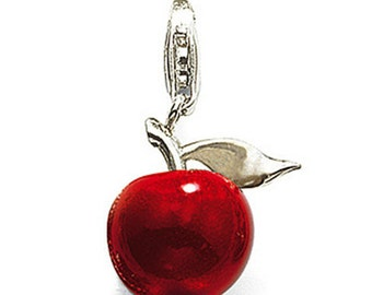 3D Red Apple Fruit Dangle Charms for Floating Lockets