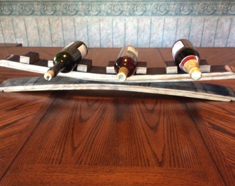 Table Wine Rack Double Stave