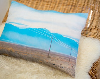 Decorative pillow with a photo design - desert (removable pillow cover and insert included)