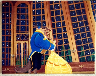Disney Beauty and the Beast Painting - Princess Belle