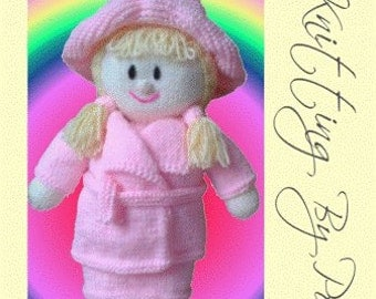 Rag Doll Knitting Pattern, Doll Knit Pattern, Dolly Knit Pattern, It's a Bit Breezy Doll Knit, Soft Toy Knitting Pattern