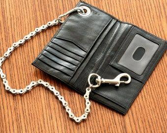 Leather Wallet and Chain
