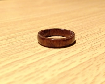 Hand Made Pommele Sapele Bentwood Ring