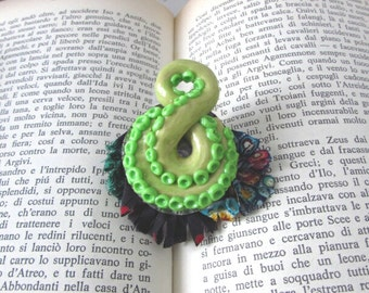 Polymer Clay, One of a Kind, Unique Brooch, Kitsch Jewelry, Custom Jewelry, Octopus Jewelry, Wearable Art, Art Gift, Pin, Original Jewelry
