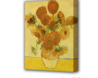Van Gogh Sunflowers Canvas Fine Art Print Wall Art Giclée Print Vincent Van Gogh Painting Canvas Print Van Gogh Art Van Gogh Style Paint