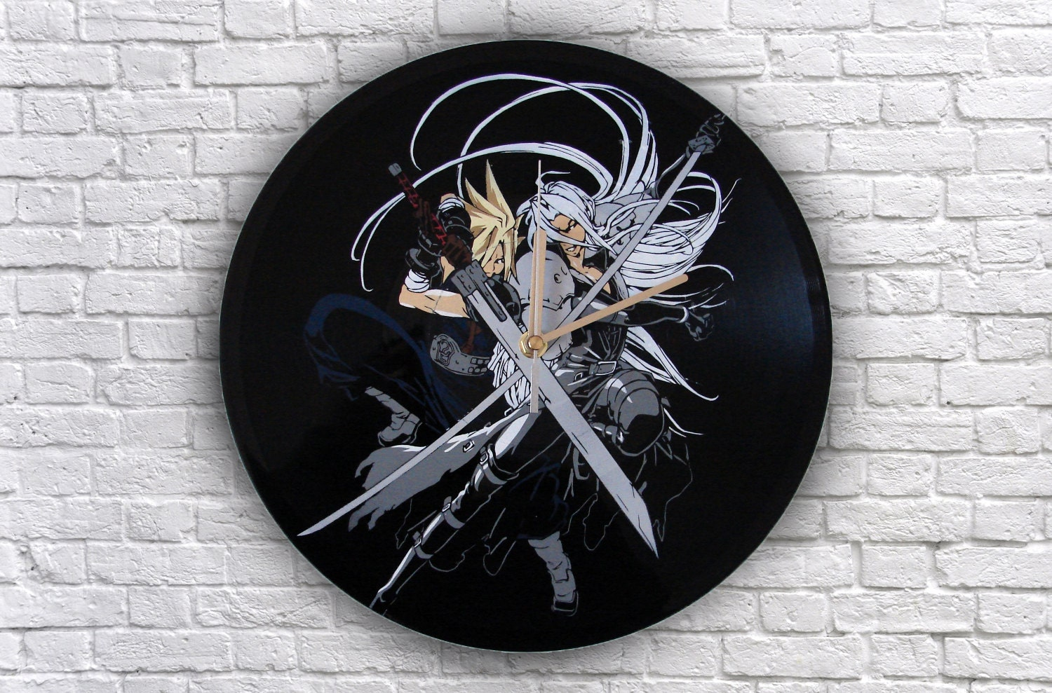 Final Fantasy 7 Painted Vinyl Record Clock Wall Clock Gift