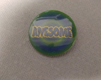 Awesome pinback button 2 1/4