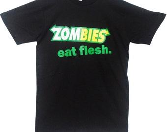 Zombies Subway Eat Flesh Subway fresh T-shirt