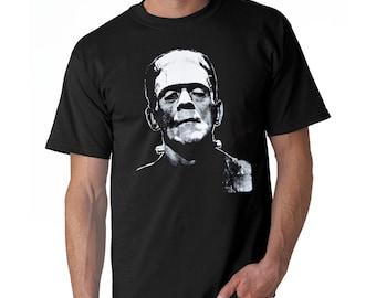 FRANKENSTEIN T-shirt Horror Movie Scary Monster Tee Adult Mens S-3XL