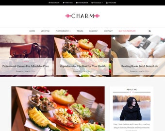 Blogger Responsive Template - Charm