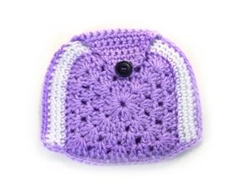 Purple pocket purse