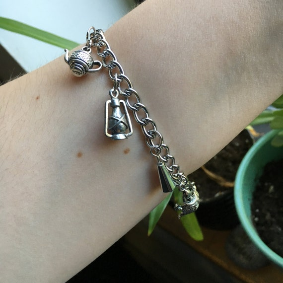 over the garden wall silver charm bracelet fall halloween. Black Bedroom Furniture Sets. Home Design Ideas