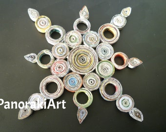 Star - handmade from recycled paper, 3D, eco-friendly