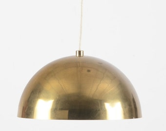 Mid Century Brass Dome Light Fixture/Pendant