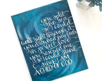 Home decor, canvas art, hand lettered, painting