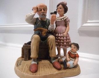 """Norman Rockwell Original Porcelain Figurine Titled """"The Cobbler"""""""