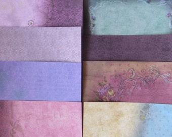 10 x Santoro Gorjuss 6x6 Papers Pink & Purple