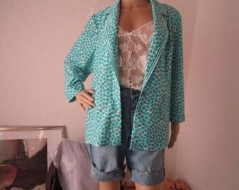 Vintage of 70s jacket Blazer blouse INA oversize