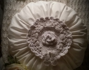Ruffling pillow Romantik/shabby/nostalgia - with love thought to dream