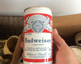 Vintage Budweiser pull tab can