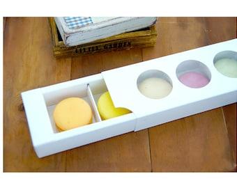 10 Macaron box with windows, white macaron boxes for party favour, macaron gift box, macaron boxes for bakery,wedding favor macaron boxes