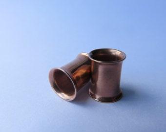 PAIR Bronze Tunnels, Bronze Plugs, Bronze Gauges 0G