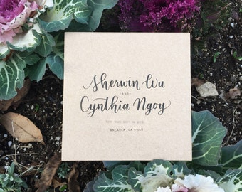 Wedding Envelope Calligraphy   Handlettered   Custom Modern Calligraphy