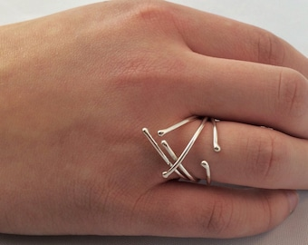 Argentium silver ball rings - size 6