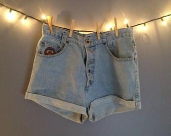 Light wash high waisted Jean Shorts