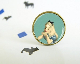 Alice at the window - Adjustable ring - Original gift