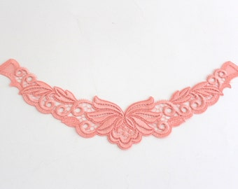 Swiss embroidery: Salmon Lace Appliques