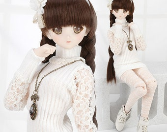 T57.【DAN-30】DD Lace Knitted Sweater Set # White
