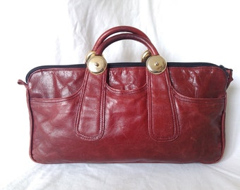 /Vintage Burgundy leather bag