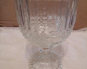 Vintage Glass Goblet/ Candy Dish